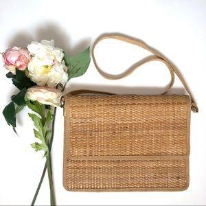 Vintage Italian Made Straw Handbag